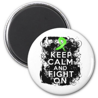 Non-Hodgkins Lymphoma  Keep Calm and Fight On 2 Inch Round Magnet