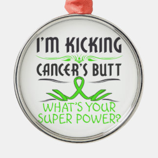 Non-Hodgkins Lymphoma Kicking Cancer Butt Metal Ornament