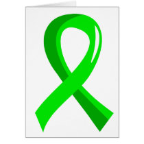 Non-Hodgkin's Lymphoma Lime Green Ribbon 3 Card