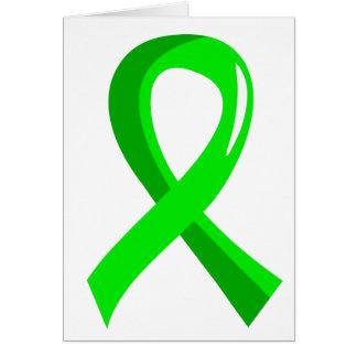 Non-Hodgkin's Lymphoma Lime Green Ribbon 3 Card