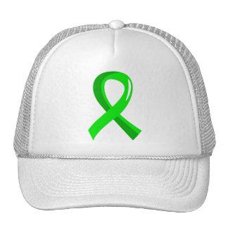 Non-Hodgkin's Lymphoma Lime Green Ribbon 3 Hats