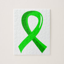 Non-Hodgkin's Lymphoma Lime Green Ribbon 3 Jigsaw Puzzle