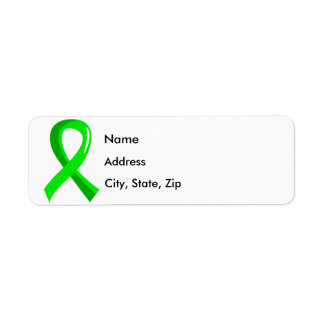 Non-Hodgkin's Lymphoma Lime Green Ribbon 3 Label
