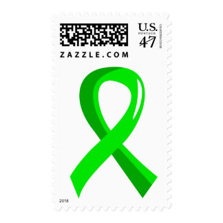 Non-Hodgkin's Lymphoma Lime Green Ribbon 3 Postage