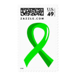 Non-Hodgkin's Lymphoma Lime Green Ribbon 3 Postage