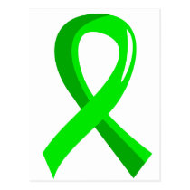 Non-Hodgkin's Lymphoma Lime Green Ribbon 3 Postcard