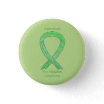 Non-Hodgkins Lymphoma Lime Green Ribbon Pins