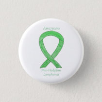 Non-Hodgkins Lymphoma Lime Green Ribbon Pins