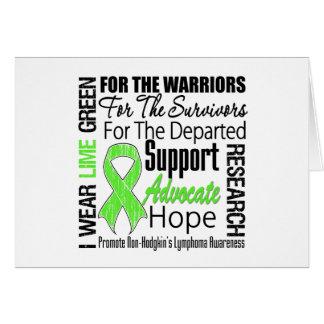 Non Hodgkins Lymphoma Lime Green Ribbon TRIBUTE Card