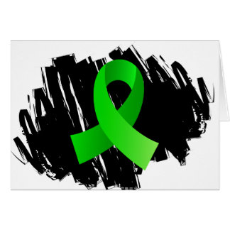 Non-Hodgkin's Lymphoma Lime Green Ribbon With Scri Cards