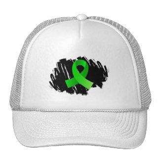 Non-Hodgkin's Lymphoma Lime Green Ribbon With Scri Hats