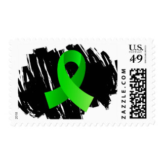 Non-Hodgkin's Lymphoma Lime Green Ribbon With Scri Postage Stamp