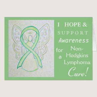 Non-Hodgkins Lymphoma Lime Ribbon Greeting Card