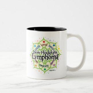 Non-Hodgkins Lymphoma Lotus Two-Tone Coffee Mug
