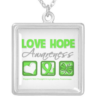 Non-Hodgkin's Lymphoma Love Hope Awareness Personalized Necklace