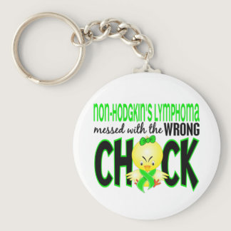 Non-Hodgkin's Lymphoma Messed With The Wrong Chick Keychain