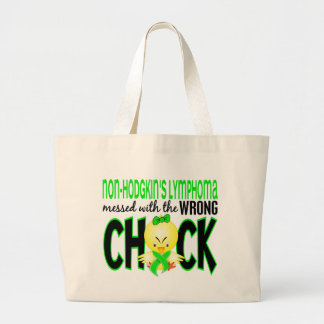 Non-Hodgkin's Lymphoma Messed With The Wrong Chick Large Tote Bag