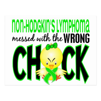 Non-Hodgkin's Lymphoma Messed With The Wrong Chick Postcard