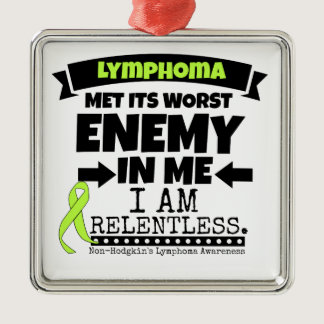 Non-Hodgkins Lymphoma  Met Its Worst Enemy.png Metal Ornament