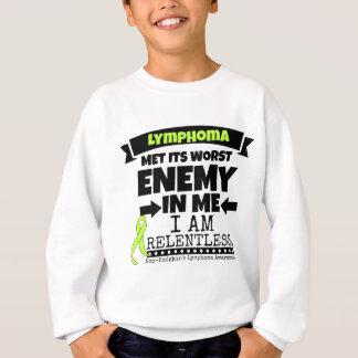 Non-Hodgkins Lymphoma  Met Its Worst Enemy.png Sweatshirt