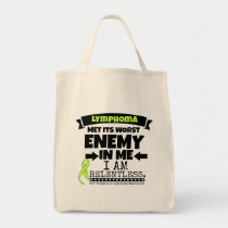 Non-Hodgkins Lymphoma  Met Its Worst Enemy.png Tote Bag