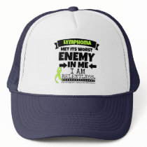 Non-Hodgkins Lymphoma  Met Its Worst Enemy.png Trucker Hat