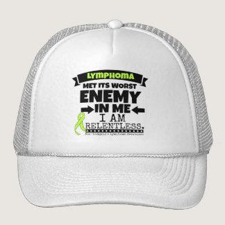 Non-Hodgkins Lymphoma  Met Its Worst Enemy.png Trucker Hat