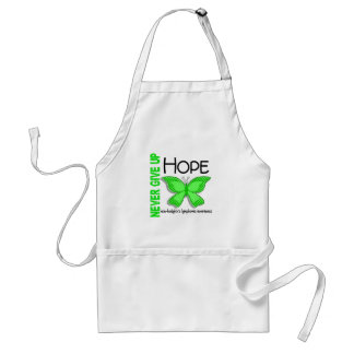 Non-Hodgkins Lymphoma Never Give Up Hope Butterfly Adult Apron