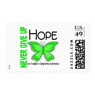 Non-Hodgkins Lymphoma Never Give Up Hope Butterfly Postage Stamp