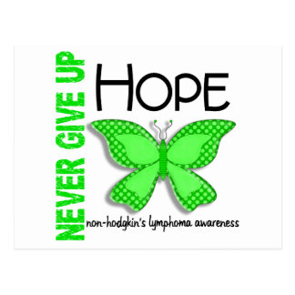 Non-Hodgkins Lymphoma Never Give Up Hope Butterfly Postcard