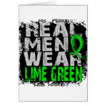 Non-Hodgkin's Lymphoma Real Men Wear Lime Green Greeting Cards