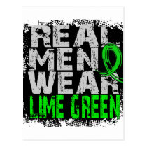 Non-Hodgkin's Lymphoma Real Men Wear Lime Green Postcard