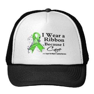 Non-Hodgkin's Lymphoma Ribbon Because I Care Trucker Hats