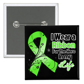 Non-Hodgkins Lymphoma Ribbon Hero in My Life Pinback Button