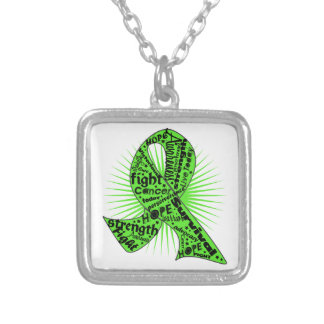 Non-Hodgkins Lymphoma Ribbon Powerful Slogans Jewelry