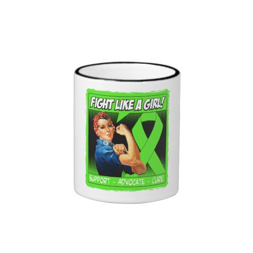 Non-Hodgkins Lymphoma Rosie Riveter FightLikeAGirl Coffee Mug