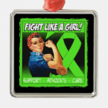 Non-Hodgkins Lymphoma Rosie Riveter FightLikeAGirl Ornaments