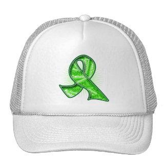 Non-Hodgkin's Lymphoma Slogan Watermark Ribbon Hats
