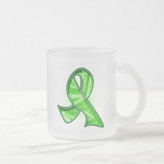 Non-Hodgkin's Lymphoma Slogan Watermark Ribbon Mugs