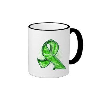 Non-Hodgkin's Lymphoma Slogan Watermark Ribbon Ringer Coffee Mug