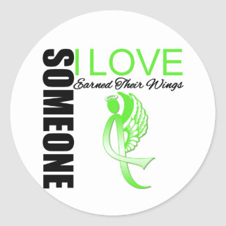 Non Hodgkins Lymphoma Someone I Love Earned Wings Stickers