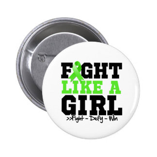 Non-Hodgkins Lymphoma Sporty Fight Like a Girl Pinback Button