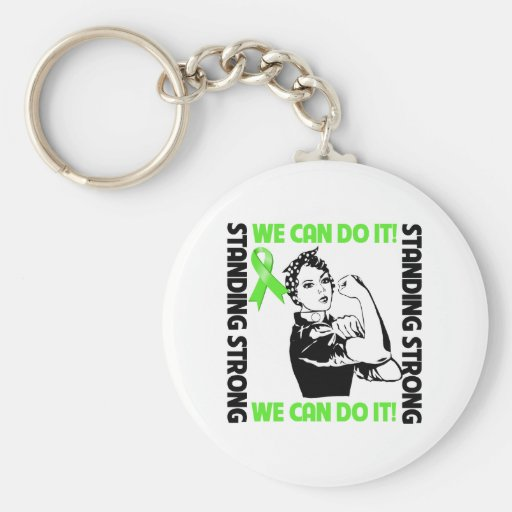 Non-Hodgkins Lymphoma Standing Strong We Can Do It Key Chain