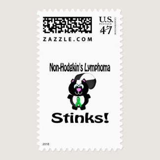 Non-Hodgkins Lymphoma Stinks Skunk Awareness Postage
