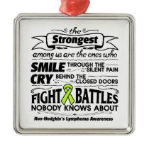 Non-Hodgkins Lymphoma Strongest Among Us Metal Ornament