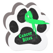 Non-Hodgkins Lymphoma Support Paw Car Magnet