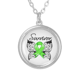 Non-Hodgkins Lymphoma Survivor Butterfly Personalized Necklace