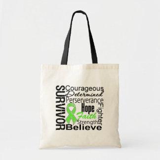 Non-Hodgkins Lymphoma Survivor Collage Canvas Bags