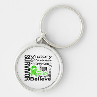 Non-Hodgkins Lymphoma Survivor Collage Silver-Colored Round Keychain