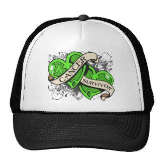 Non-Hodgkins Lymphoma Survivor Dual Hearts Trucker Hat